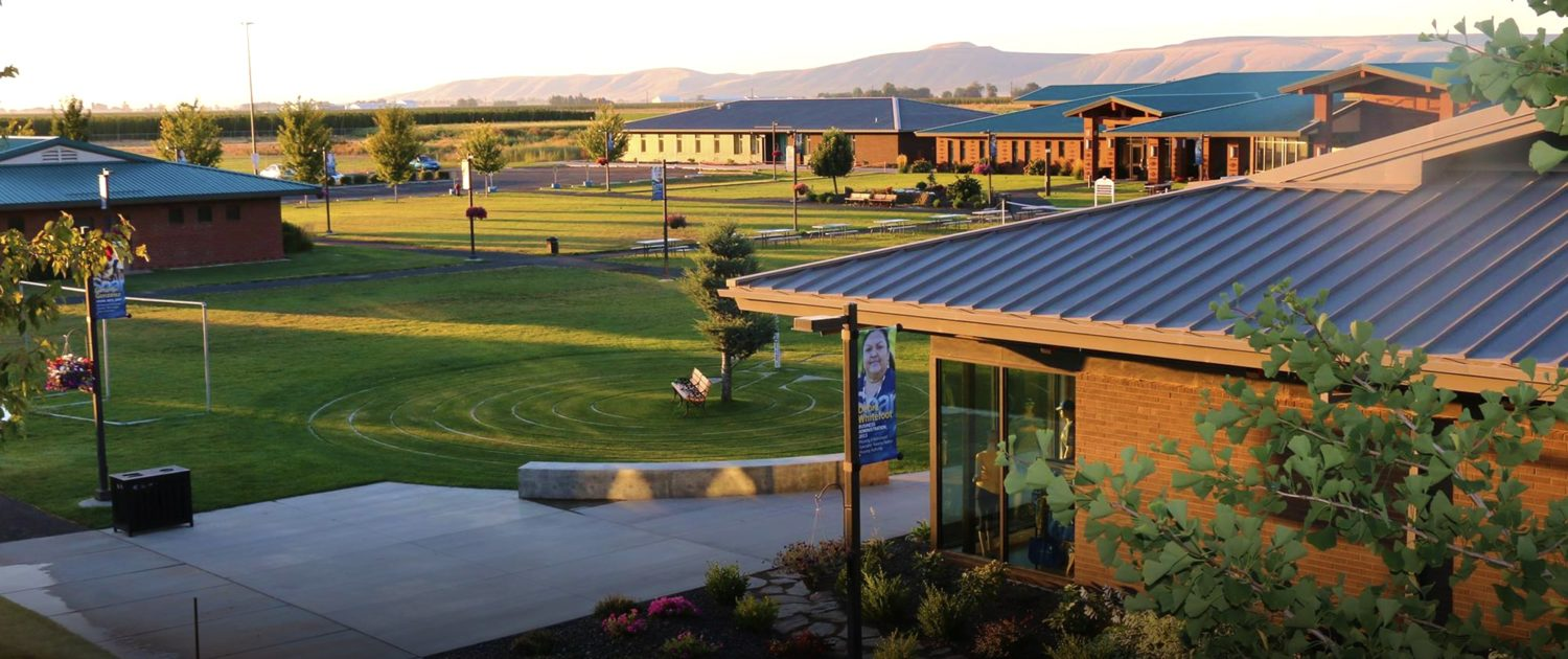 Aerial image of Heritage University campus