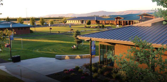 Aerial image of Heritage University campus