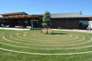 Labyrinth in front of Gaye and Jim Pigott Commons