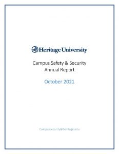 Campus Safety Annual Report thumbnail