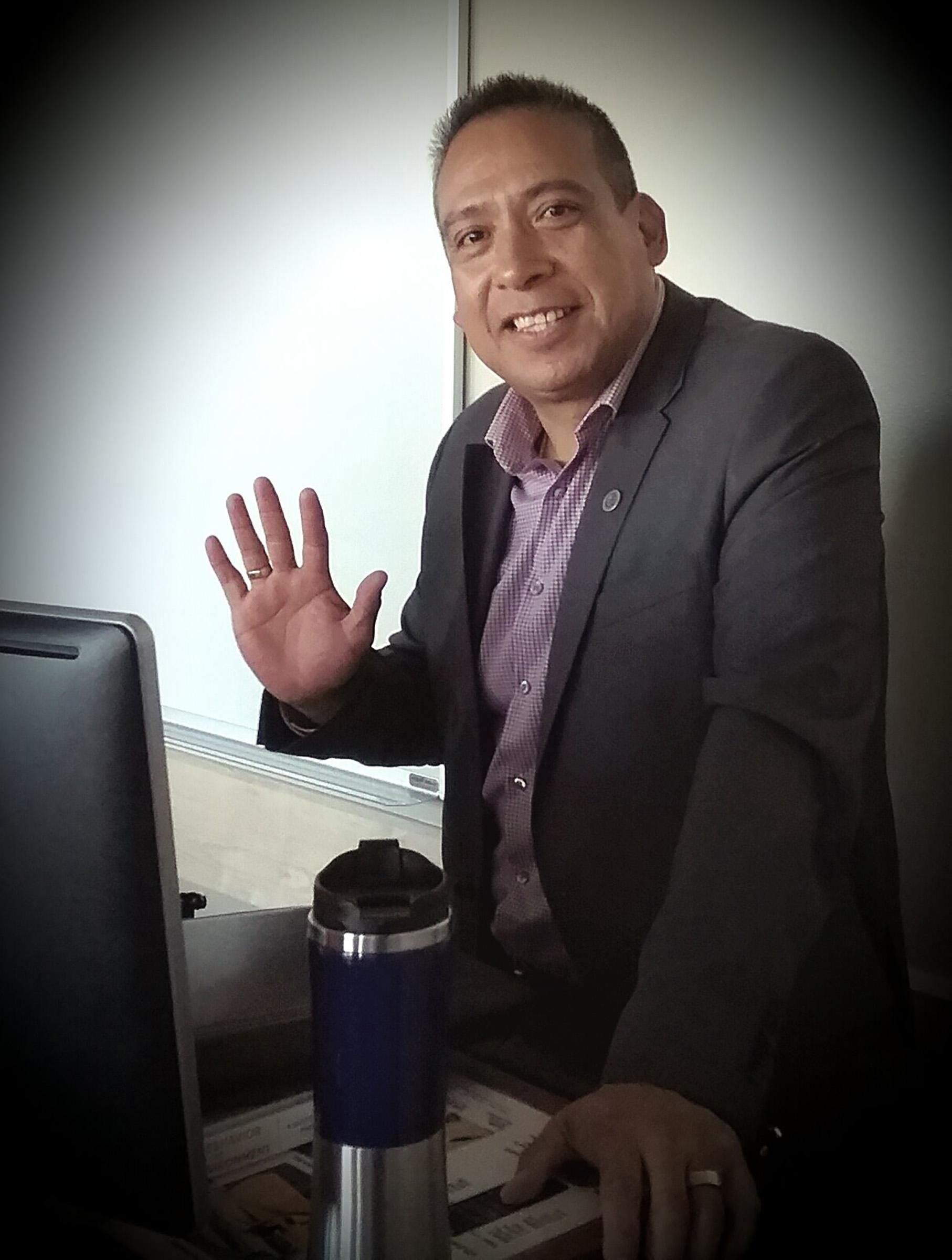 Miguel Juarez in class