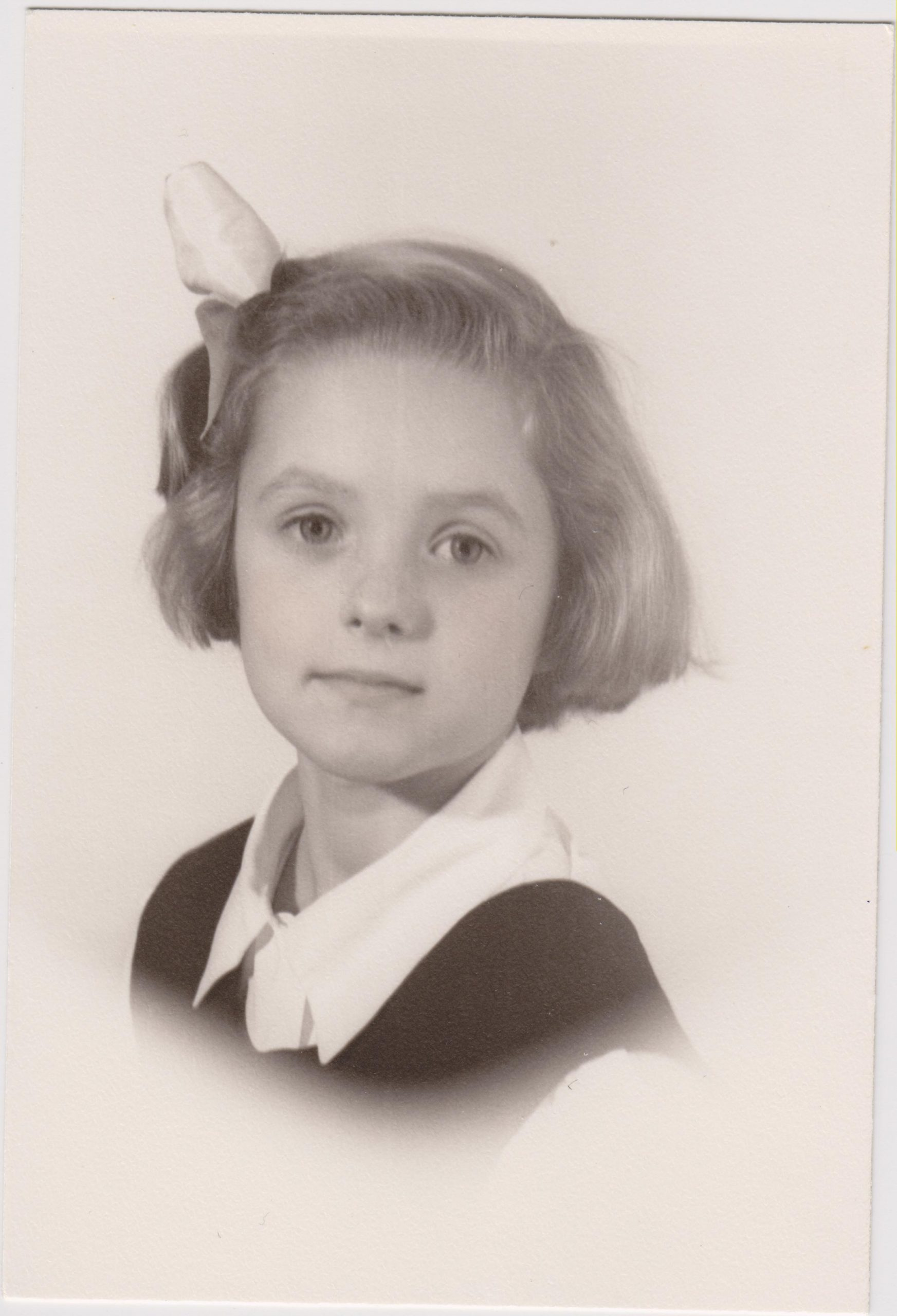 Kathleen Ross, snjm as a second grader, 1949