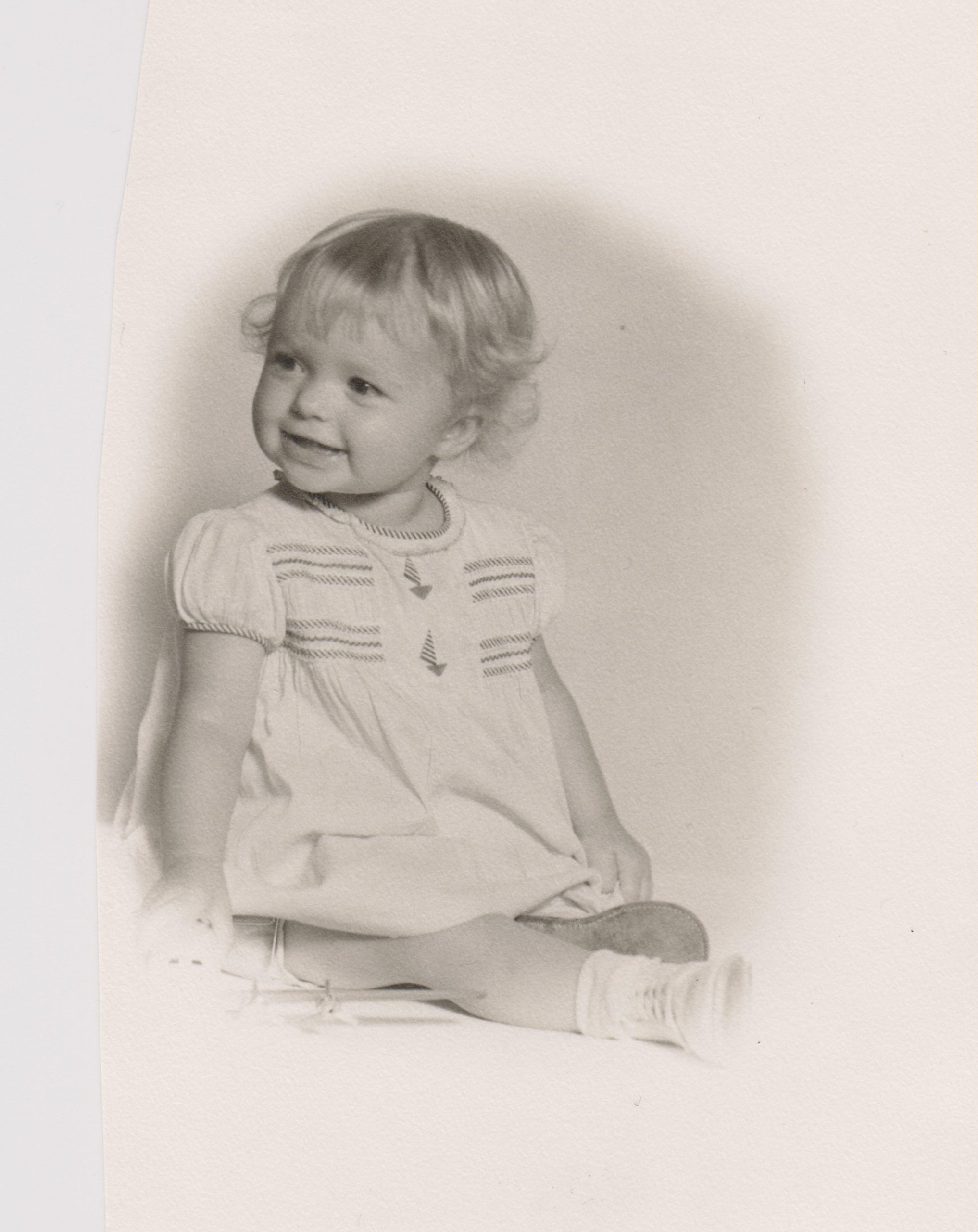 Kathleen Ross, snjm at one year old, 1942
